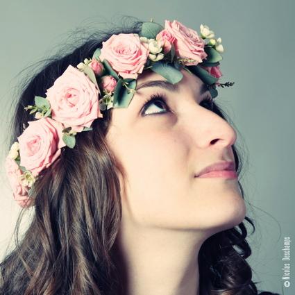 Bandeau de fleur mariée