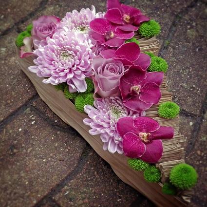 Composition floral déces